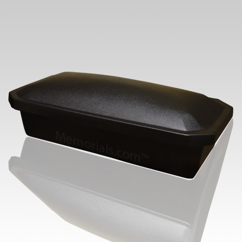 The Eternity Large Pet Casket will be a beautiful part of a memorial ceremony for your beloved pet. The piece is constructed of high impact, non-biodegradable, plastic materials, with a black exterior. The casket is closed easily with the high impact styrene construction double sided sealing tape (already included).