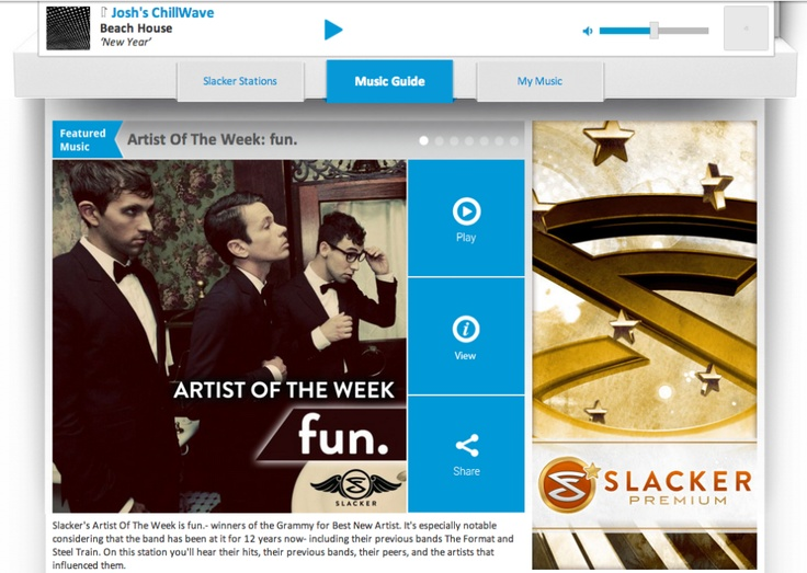 "Slacker Combines Best Of Spotify, Pandora, XM In ""Complete Music Service"" Update For Web, Apps, Cars"