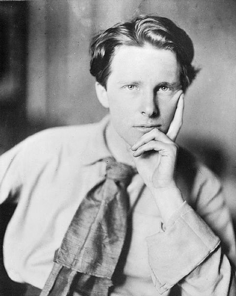 "Rupert Brooke. 3rd. Aug. 1887 – 23rd. Apr. 1915, was an English poet known for his war sonnets, especially ""The Soldier"". ""If I should die, think only this of me; That there's some corner of a foreign field, That is for ever England. There shall be, In that rich earth a richer dust concealed ..."