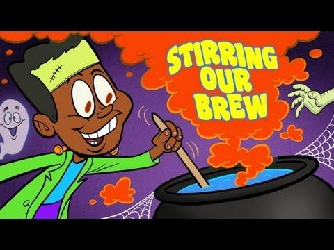 Halloween Songs for Children -- Stirring Our Brew by The Learning Station - Children will learn the actions to this fun, upbeat Halloween song with our amusing animated characters.