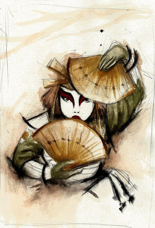 Kyoshi Warrior by ~winderly Oh.. I miss the Avatar so much!