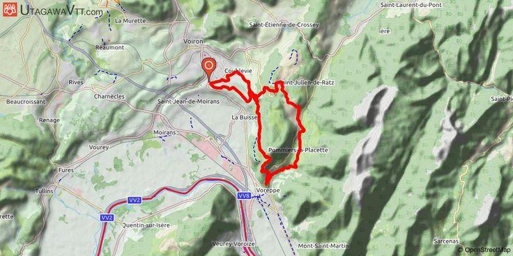 [Isère] Tour du Grand Ratz Départ de Saint-Jean-de-Moirans / Coublevie, montée au col de la Tencon, descente sur Voreppe, montée sur la Placette par les fonds de Roize puis descente du Tracoux. Retour par le Bret, le Neyroud et Coublevie.