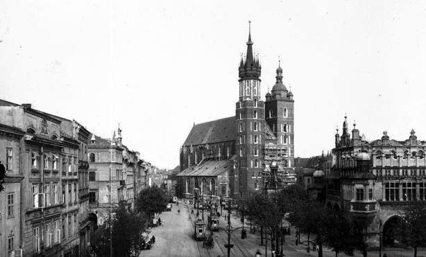 Rynek Główny. Kraków, 1930 rok.