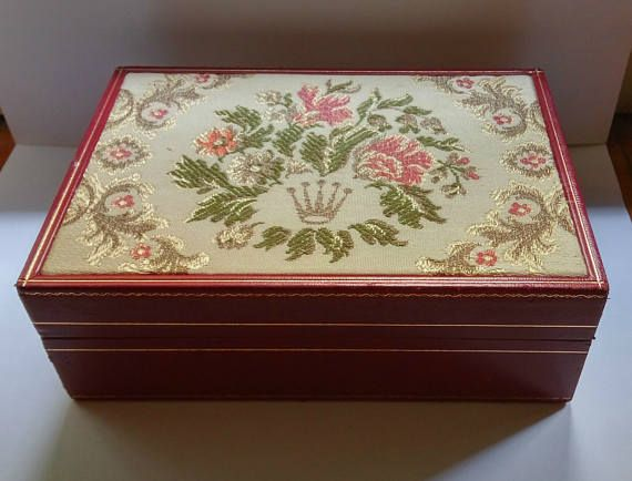Vintage Rolex watch box Red Ladies 60.01.2