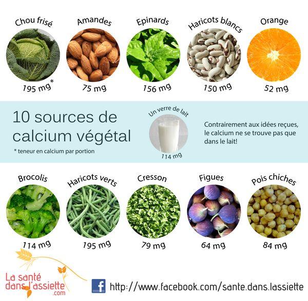 10 sources de calcium végétal