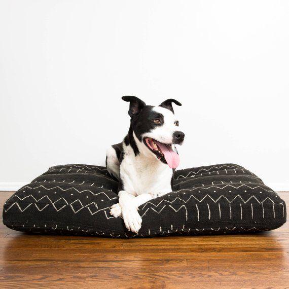 Black And White Mudcloth Dog Bed Extra Large Xl Dog Bed Dog Pillow Bed Designer Dog Beds