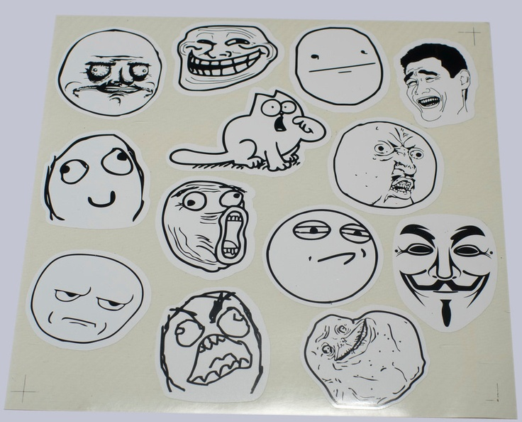 Meme sticker set foverver alone me gusta by bestgamersshop on etsy 2 50