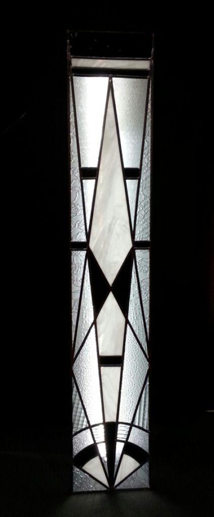 colonne lumineuse vitrail art déco : Vitraux d'Art Vanessa Dazelle
