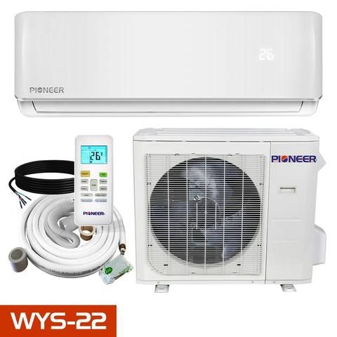 Pioneer Wys 22 Mini Split Heat Pump Air Conditioner With Heater Ductless Mini Split Heat Pump System