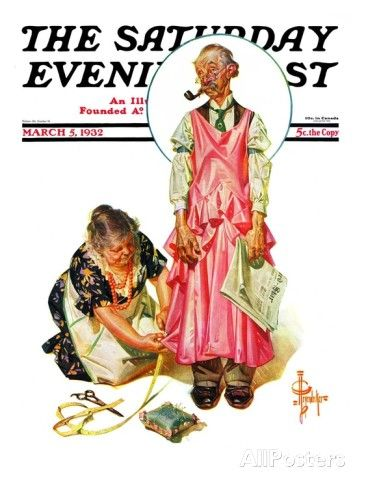 """Living Mannequin,"" Saturday Evening Post Cover, March 5, 1932 Giclee Print by J.C. Leyendecker - AllPosters.co.uk"