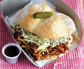 Pulled pork sandwiches from @Eat Out.. we love this idea! #W4D #EatOutFestival