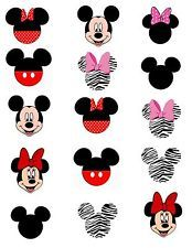 Mickey Minnie One Inch Pre Cut Bottle Cap Images Scrapbooking