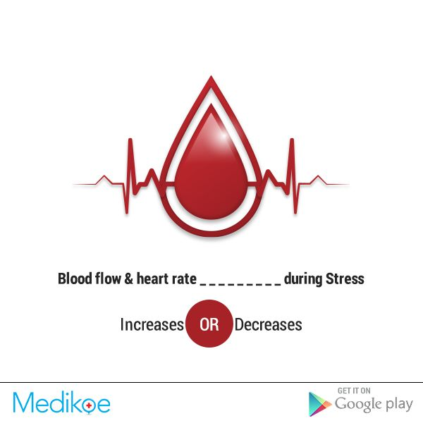 #HealthyFact  Blood flow and heart rate ------ during Stress.  #Stress #Health #HealthyLiving #Medikoe