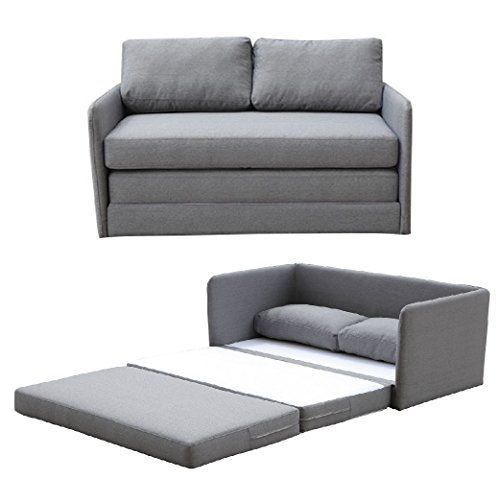 cheap container furniture direct kathy collection modern fabric upholstered livingroom loveseat sleeper grey