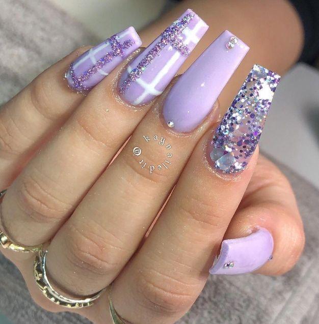 Lilac Nails Lilac Nails Lilac Nails Design Purple Nail Designs
