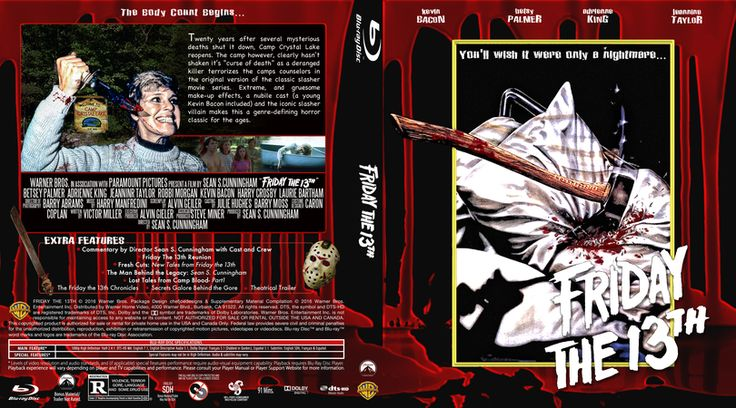 Friday the 13th (1980) Blu-ray Custom Cover