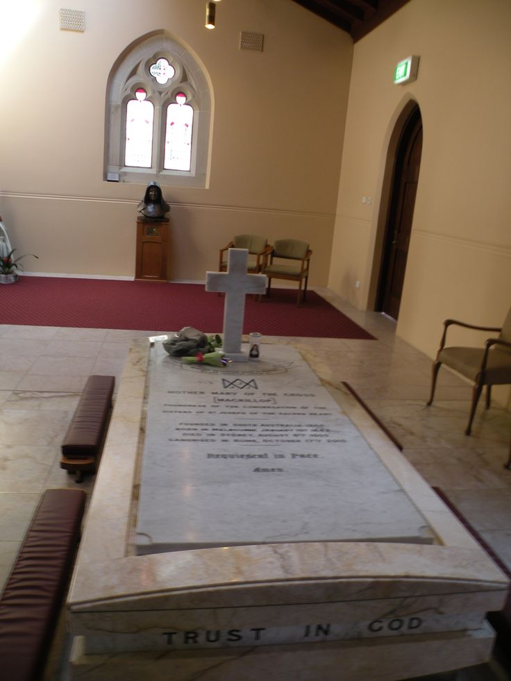 St Mary's grave - Mary MacKillop Memorial Chapel in Sydney - Australia