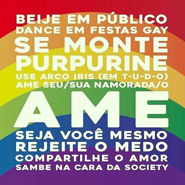 25 de março - hoje é comemorado o Dia Nacional do Orgulho Gay. Hoje é dia de dar pinta dar close andar de mãos dadas beijar na boca dançar com Cher ou Lady Gaga hoje é dia de ser feliz assim como todos os outros dias do ano. #Pride #GayPride #Jampa #JoãoPessoa #PB #LGBT #LGBTPride #InstaPride #Instagay #Color #Travesti #Transexual #Dragqueen #Instadrag #Aligagay #Sitegay #SiteLGBT #Love #Gaylove