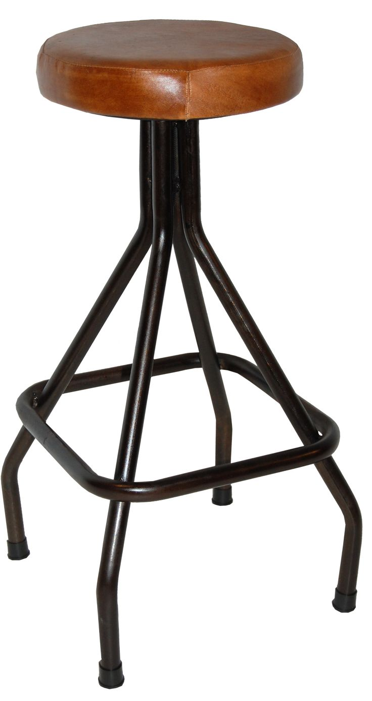 Lovely stool in iron and wood from Trademark Living