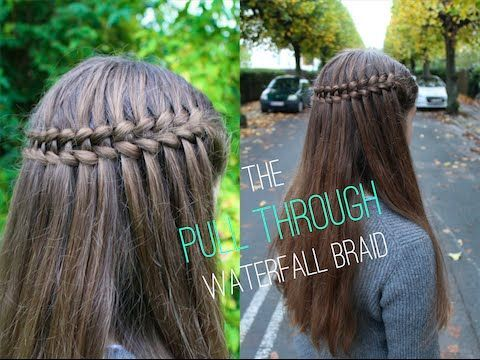 Dutch Braids -                                                              How to do the Pull Through Waterfall Braid - HairAndNailsInspiration - YouTube