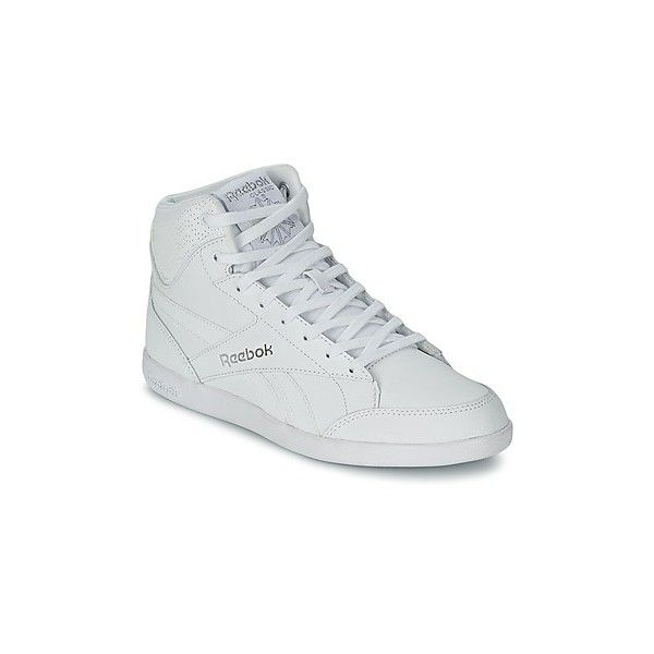 Reebok Classic FABULISTA MID NIGHT Shoes (High-top Trainers) ($53) ❤ liked on Polyvore featuring shoes, sneakers, high top trainers, women, white trainers, white hi top sneakers, reebok high tops, white leather shoes and white shoes