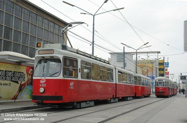 4302 Wien Südbahnhof 08.10.2008 - SGP E1 (SGP) /Duewag GT 40-105 [2-2/2-2] (1966-1976)