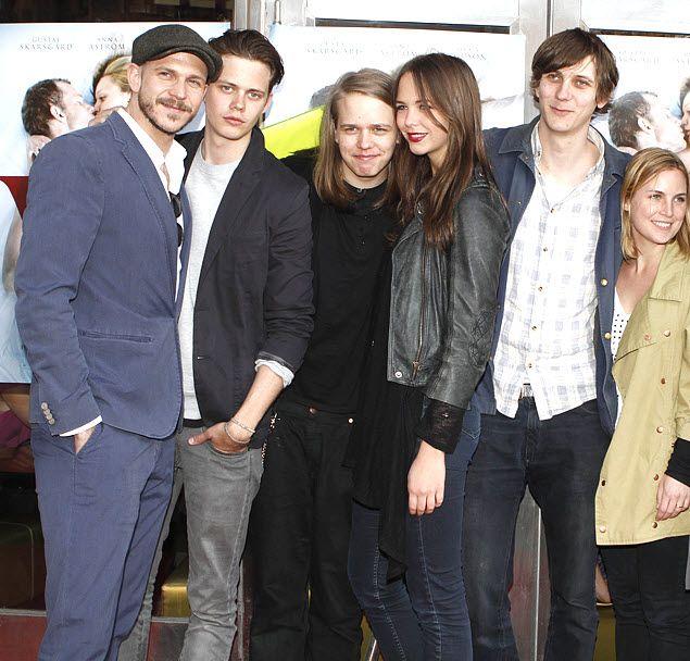 The Skarsgård siblings ( L-R: Gustaf, Bill, Valter, Eija ...