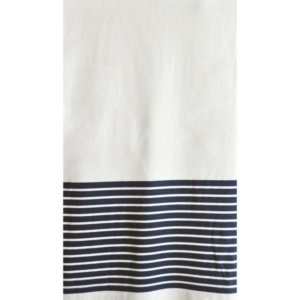 Engineered Stripe Sweatshirt Fleece Vanilla/Navy | Style Maker Fabrics