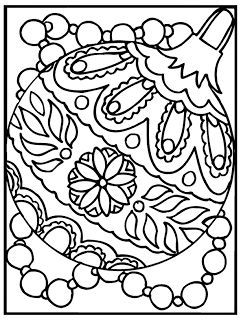 Free Coloring Pages: Christmas Ornaments Coloring Page
