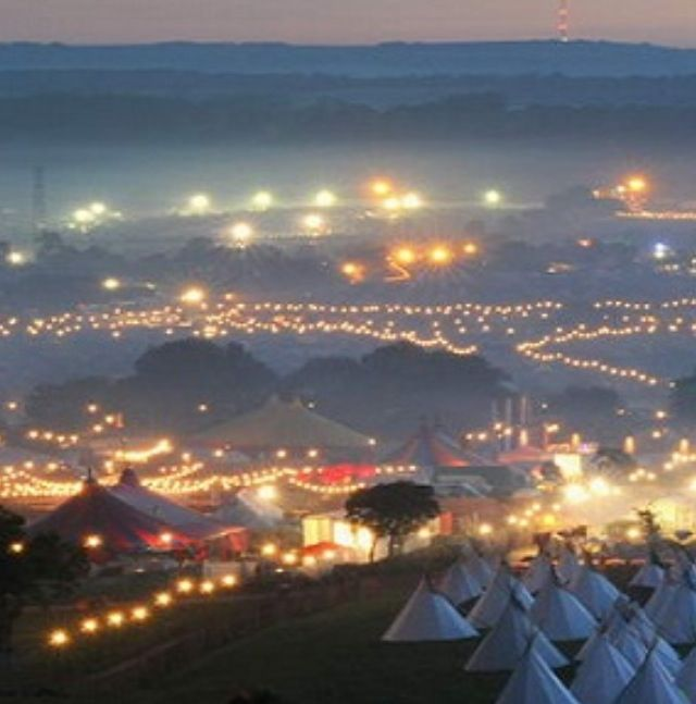 Beautiful night time shot of Glastonbury Festival! #festival #travel #Somerset