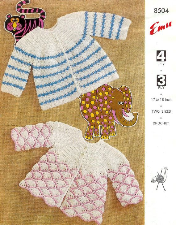 Baby Matinee Crochet Matinee Jackets styles in by 1vintagescot, $1.75