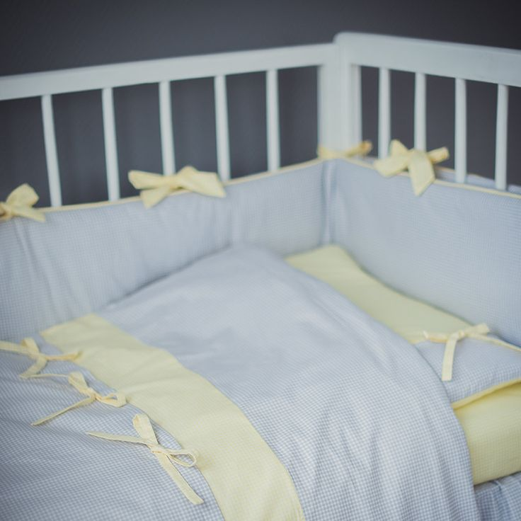 Crib pillow and duvet covers Yellow Gray - Crib bedding covers - Baby girl bedding by CotandCot on Etsy