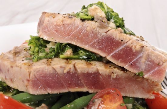 Grilled Mediterranean Yellow Fin Tuna