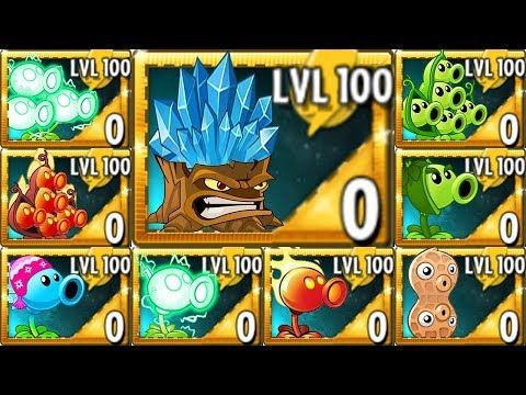 Plants vs  Zombies 2 All Pea & Torchwood LEVEL 100 Power Up