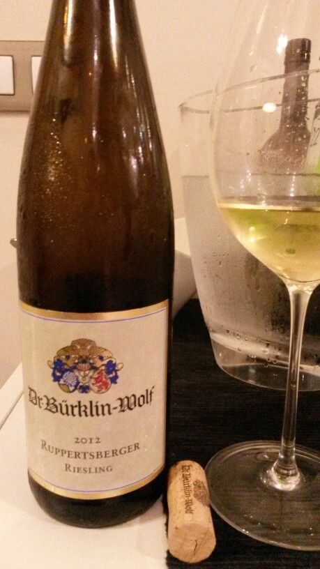 Dr. Bürklin-Wolf Ruppertsberger Riesling 2012. There is always time for a good riesling wine like this.