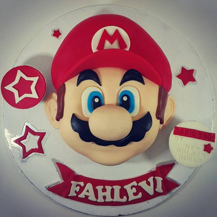 Mario Bros Face 3d Fondant cake only  at #newgoldenroses bakery    #mariobros #cake #kue #kueultah #bi - newgoldenroses