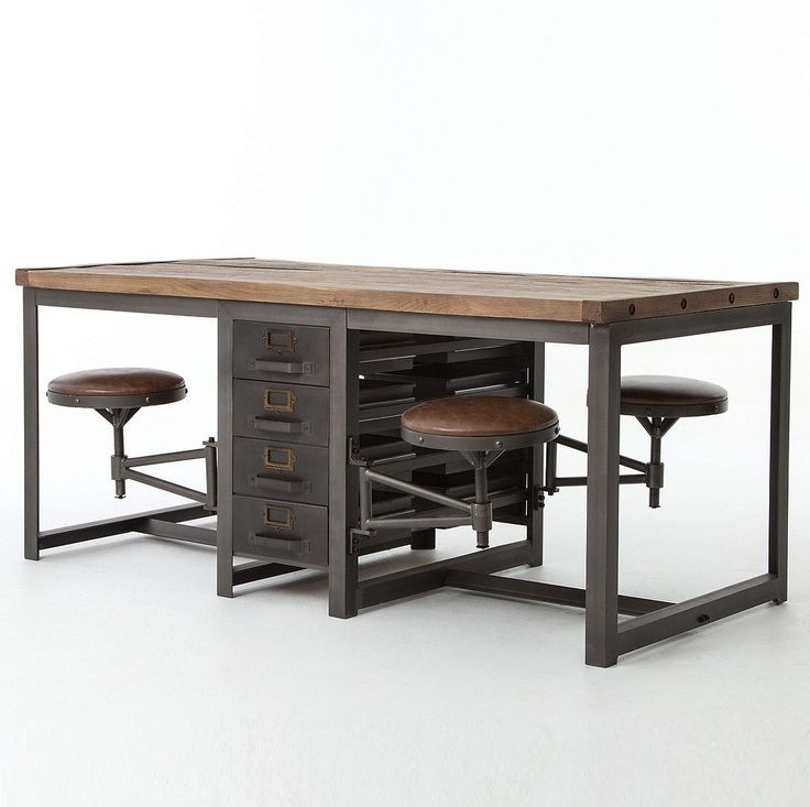 Style And Modern Functionality Are Reflected In Our Rupert Architect Work Table Desk