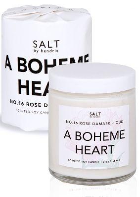 Salt by Hendrix Boheme Heart Candle