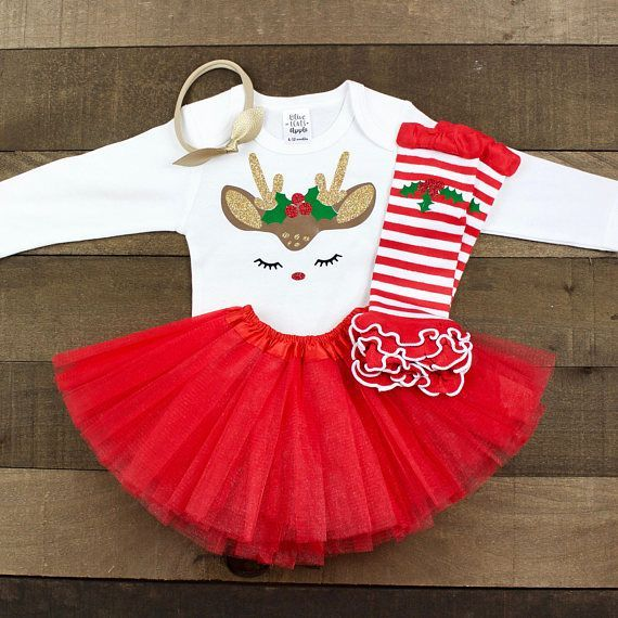 566b4bb59 Glitter Reindeer Outfit | Baby Girl Christmas Outfit | Baby Girl Christmas  Dress | Toddler Christmas Outfit | Christmas Tutu Outfit #Promotion…