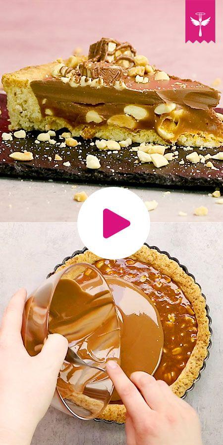 Backen Sie eine Snickers-Torte – so geht's   – Kuchen-Liebe