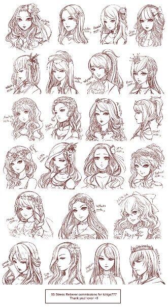 Fantastic 1000 Images About Anime Hair Style On Pinterest Manga Art Hairstyle Inspiration Daily Dogsangcom