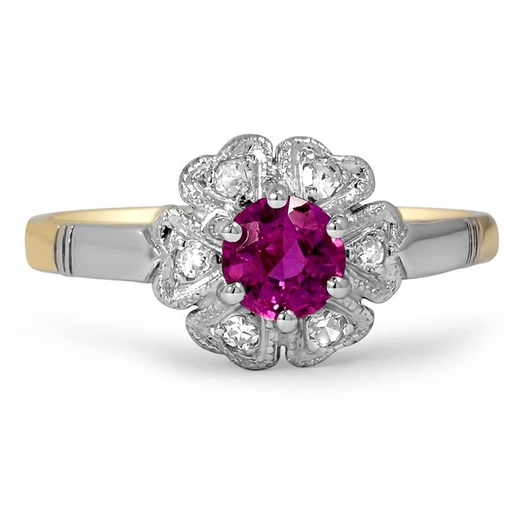 18K Yellow Gold, Platinum The Emelia Ring from Brilliant Earth