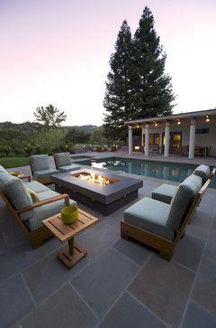 Fire table contemporary patio