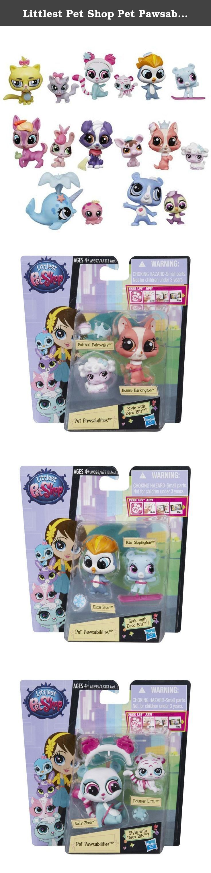 Littlest Pet Shop Pet Pawsabilities Mini-Figures Set of 8 Wave 2. Everything is pawsable! The Littlest Pet Shop Pet Pawsabilities Mini-Figures Wave 2 Set features a full suite of sweet critters including dogs, turtles, otters, and more. Figures are approximately 2 inches tall! Ages 4 and up!.