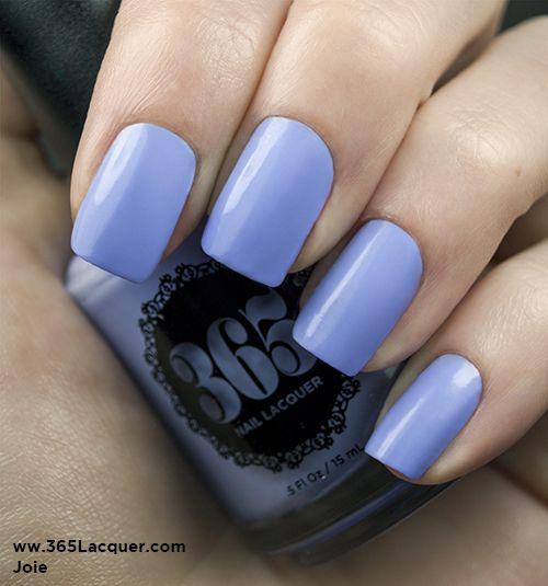 Light periwinkle creme nail polish