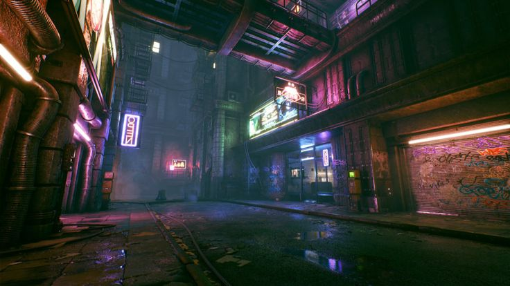Lights and Color in Cyberpunk Environments