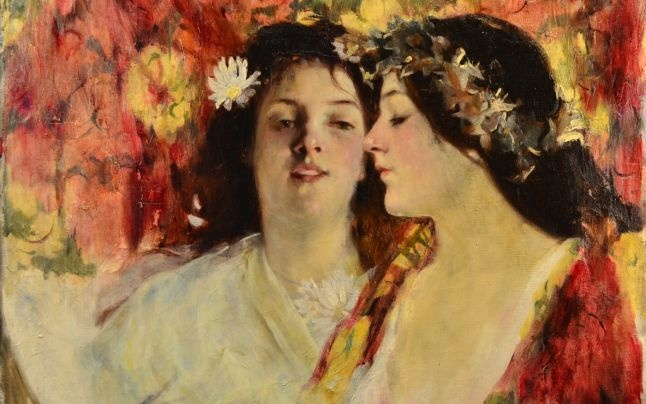 """Two girls"", by Stefan Luchian, the most expensive Romanian painting"