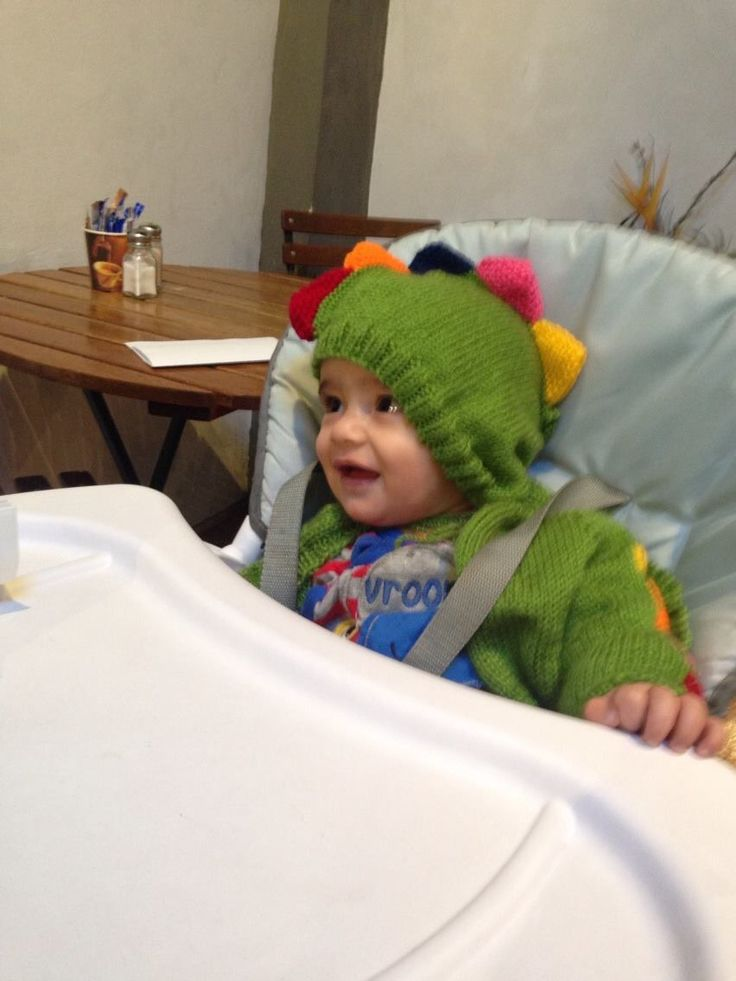 Dinosaur jacket with hood for gorgeous happy little Vincent