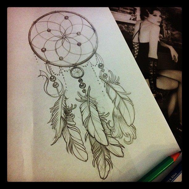 .@guy_artecorpus | #sketch for #tattoo #dreamcatcher | Webstagram - the best Instagram viewer