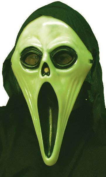 Masque 'Screaming Fantôme' phosphorescent, avec cagoule